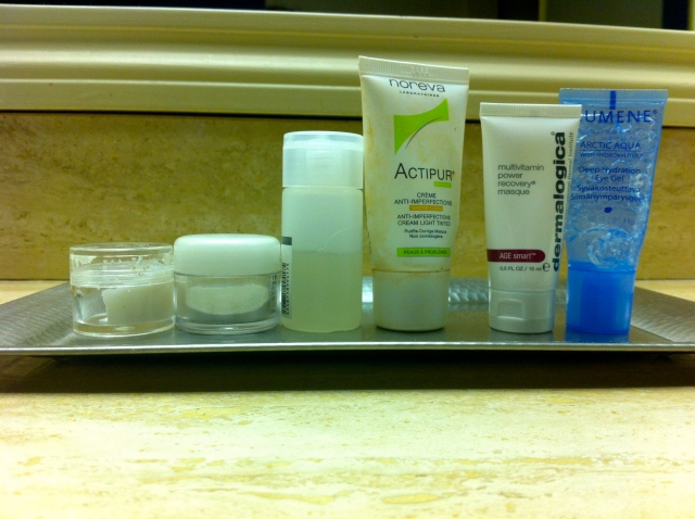 What I packed – Skincare