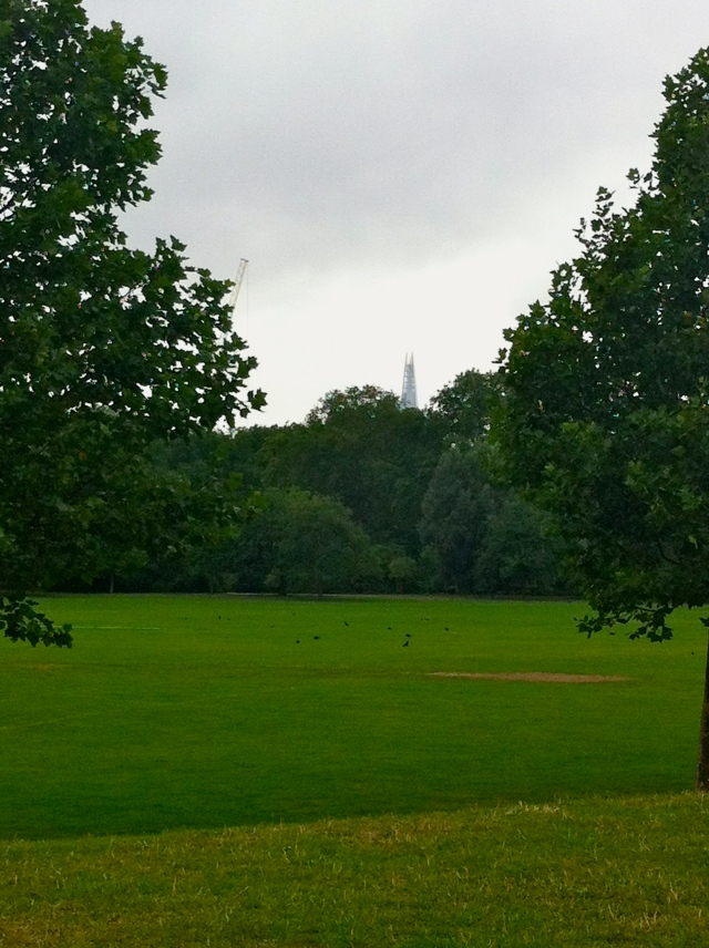 Picture of the park where I train. You can see a little bit of the Shard. (c)PeachyLau
