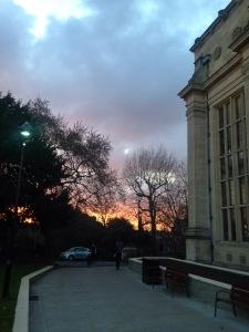 Bristol sunset winter