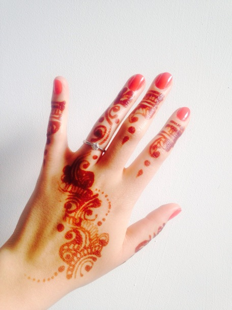 Maybelline Urban Coral Indian wedding henna