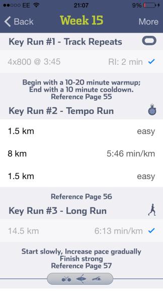 run less run faster 15 week marathon training
