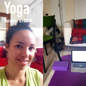 Home workout yoga barrecore