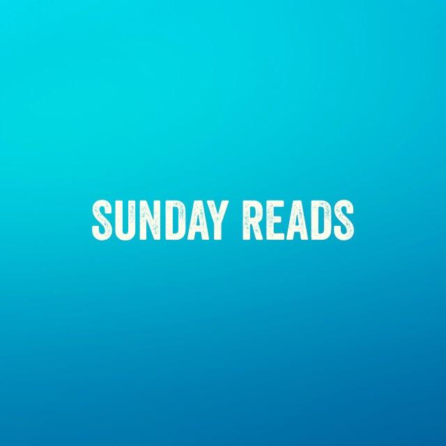 Sunday reads #1