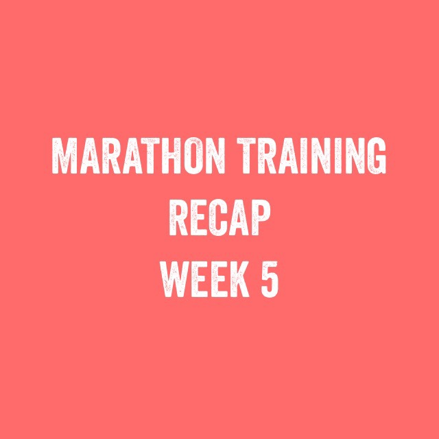 Bristol + Bath Marathon: Training update week 5