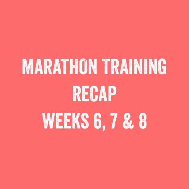 Bristol + Bath marathon: training update weeks 6, 7 and 8